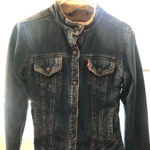 Levi shearling lined Jean Jacket